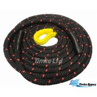 Black Polyester Double-Braided Battling Fitness Rope
