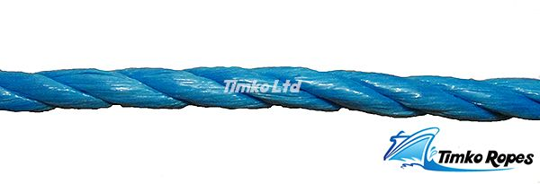10mm Blue Polypropylene Rope Sold By The Metre