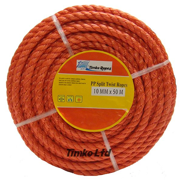 Polypropylene rope - 10mm Dia Red x 30m Mini Coil
