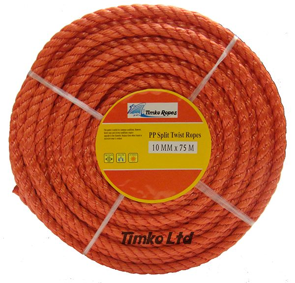 Polypropylene rope - 10mm Dia Red x 75m Mini Coil