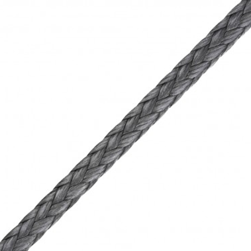 2mm 12-Strand Braided Silver Dyneema Rope