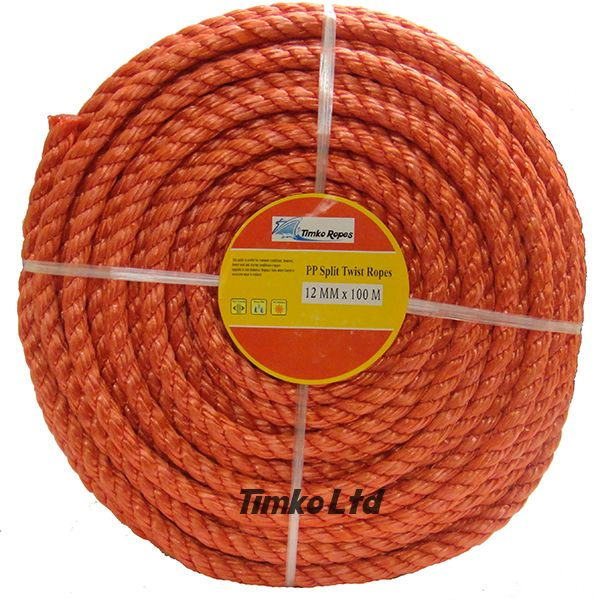 Polypropylene rope - 12mm Dia Red x 100m Mini Coil