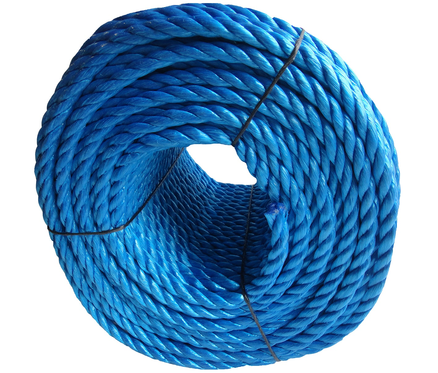 Polypropylene rope - 14mm Dia Blue x 220m Coil