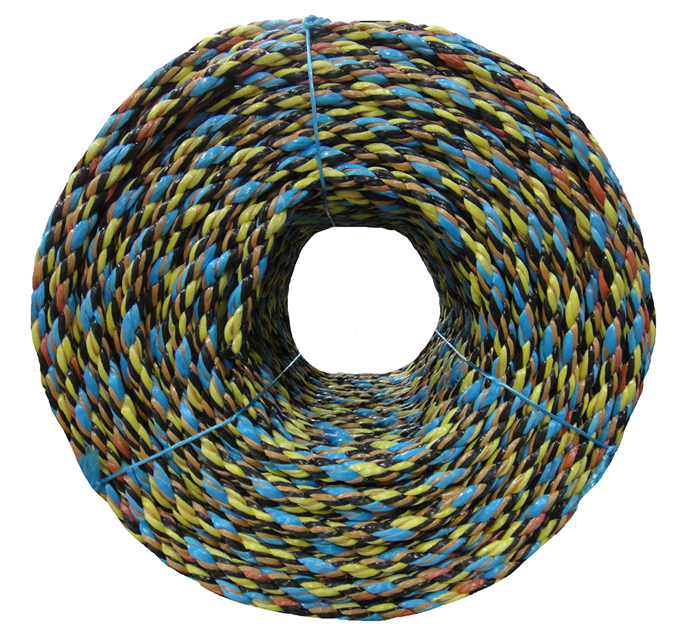 Polypropylene rope - 16mm Dia Multicolour x 220m Coil