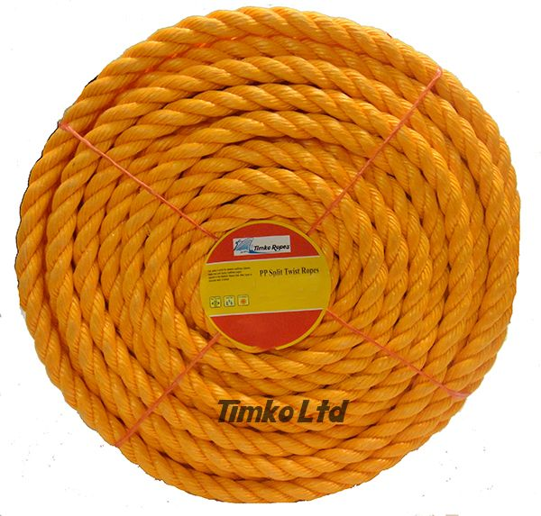 Polypropylene rope - 18mm Dia Orange x 75m Mini Coil