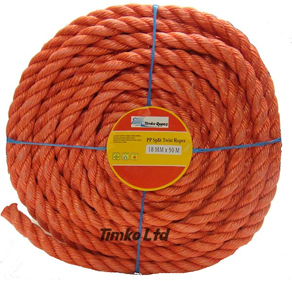 Polypropylene rope - 18mm Dia Red x 50m Mini Coil