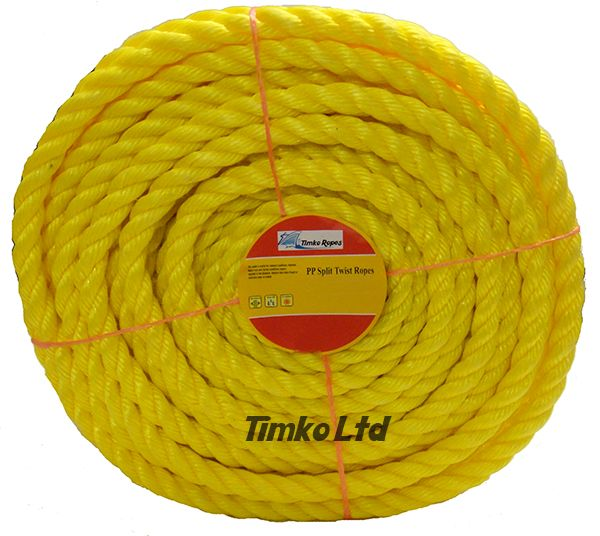 Polypropylene rope - 18mm Dia Yellow x 75m Mini Coil
