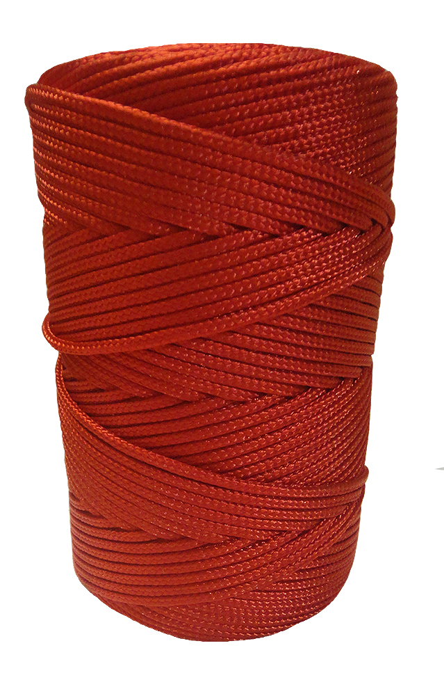 2mm Red Braided Nylon Cord x 280m