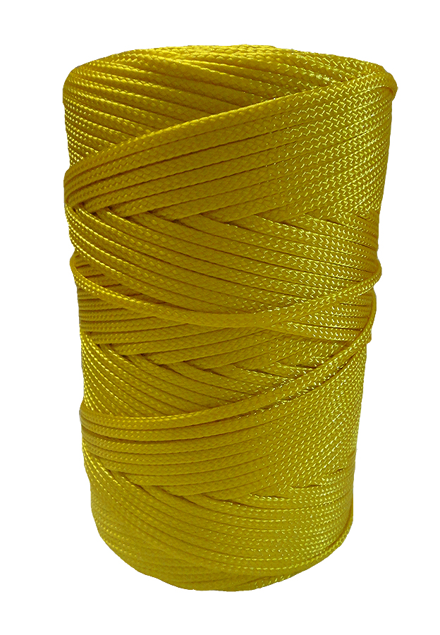 2mm Yellow Braided Nylon Cord x 280m