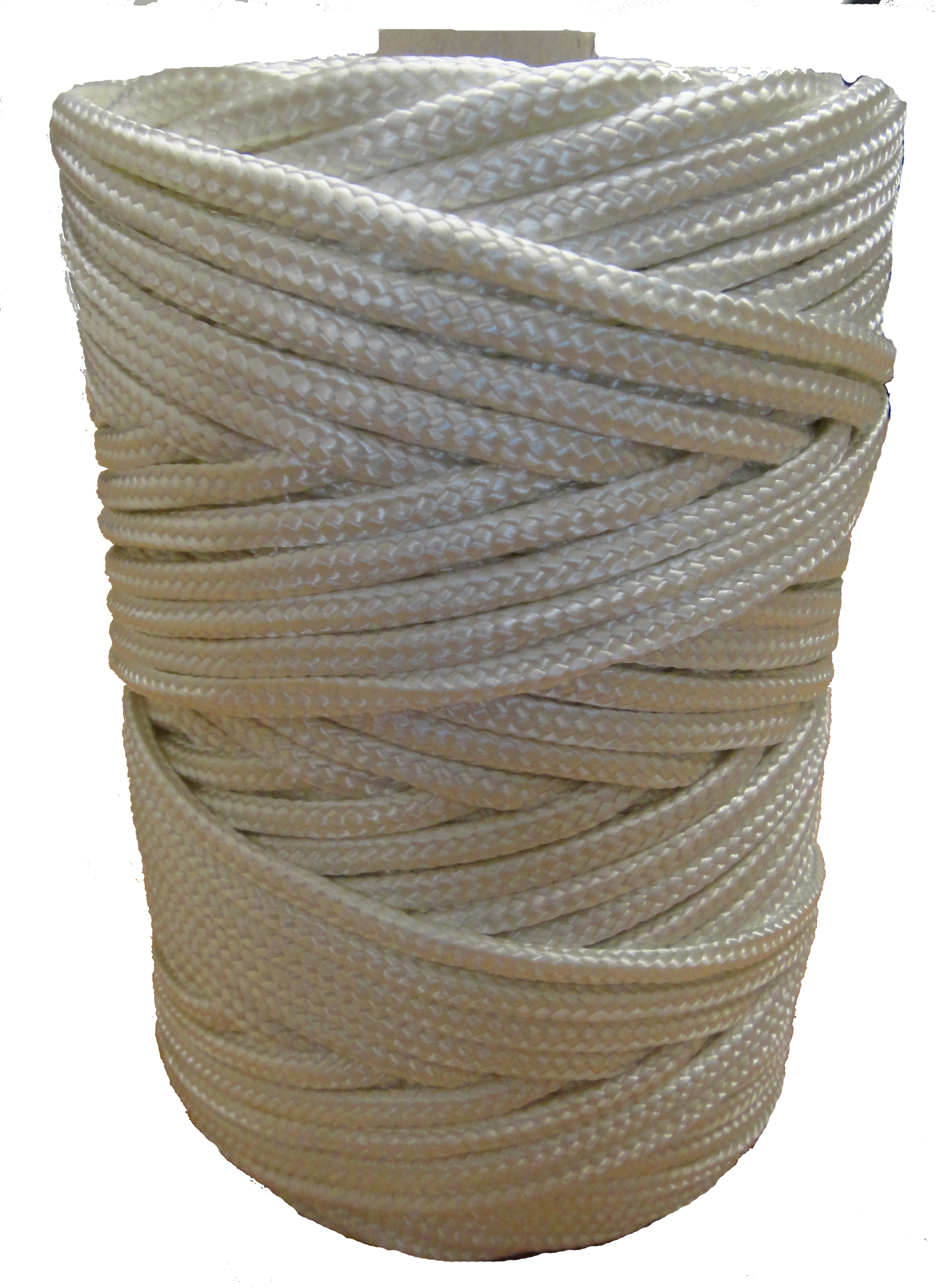 5mm Strong White Braided Nylon Cord x 105m
