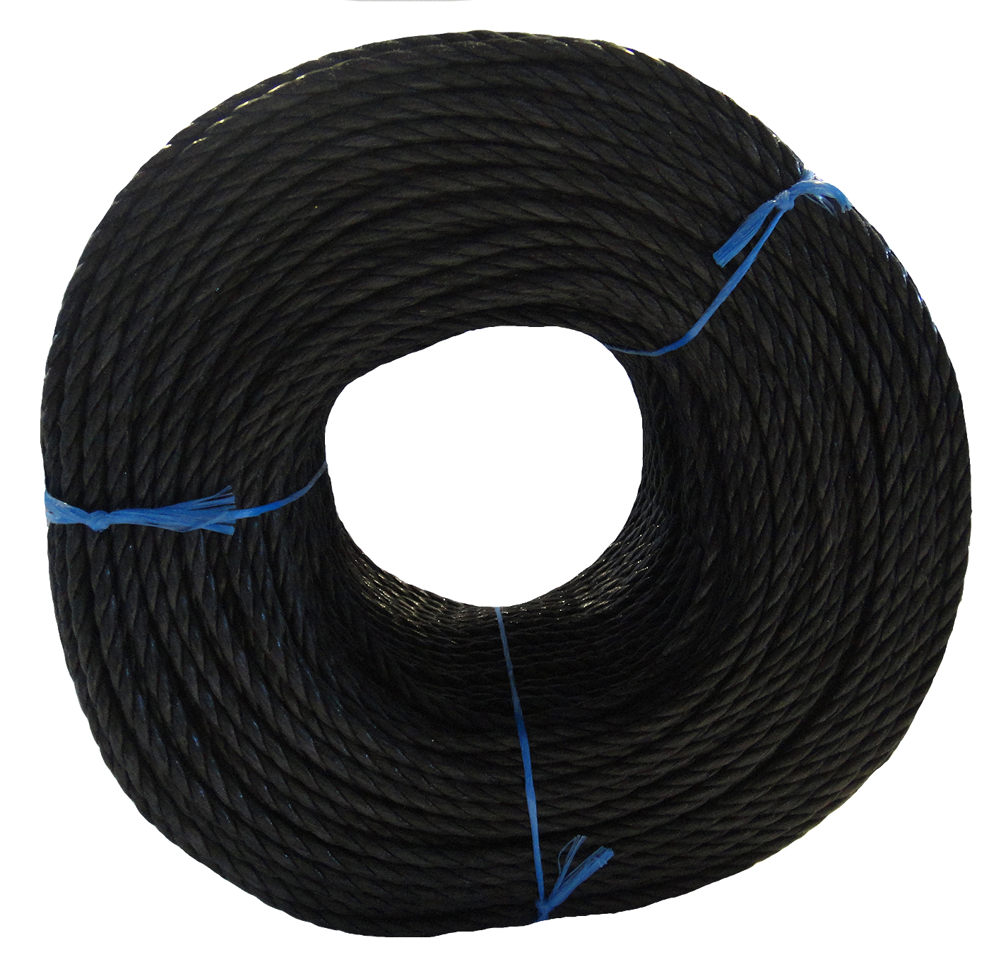 Polypropylene rope - 16mm Dia Black x 220m Coil
