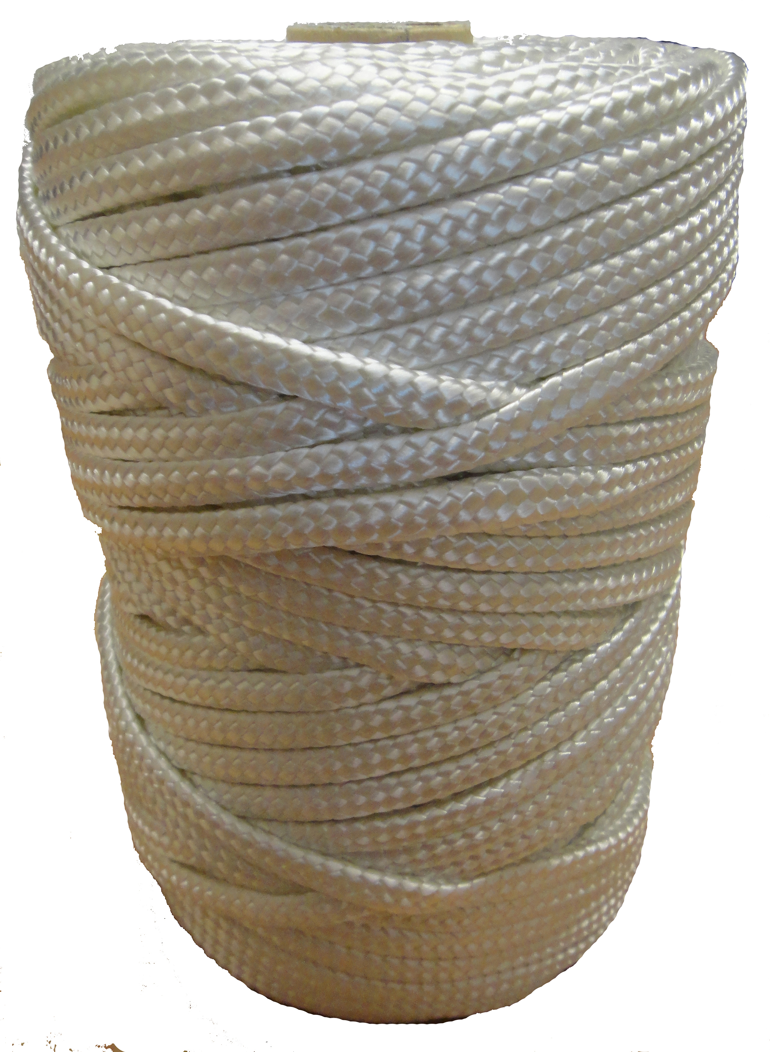 6mm White Braided Nylon Craft Cord x 70m