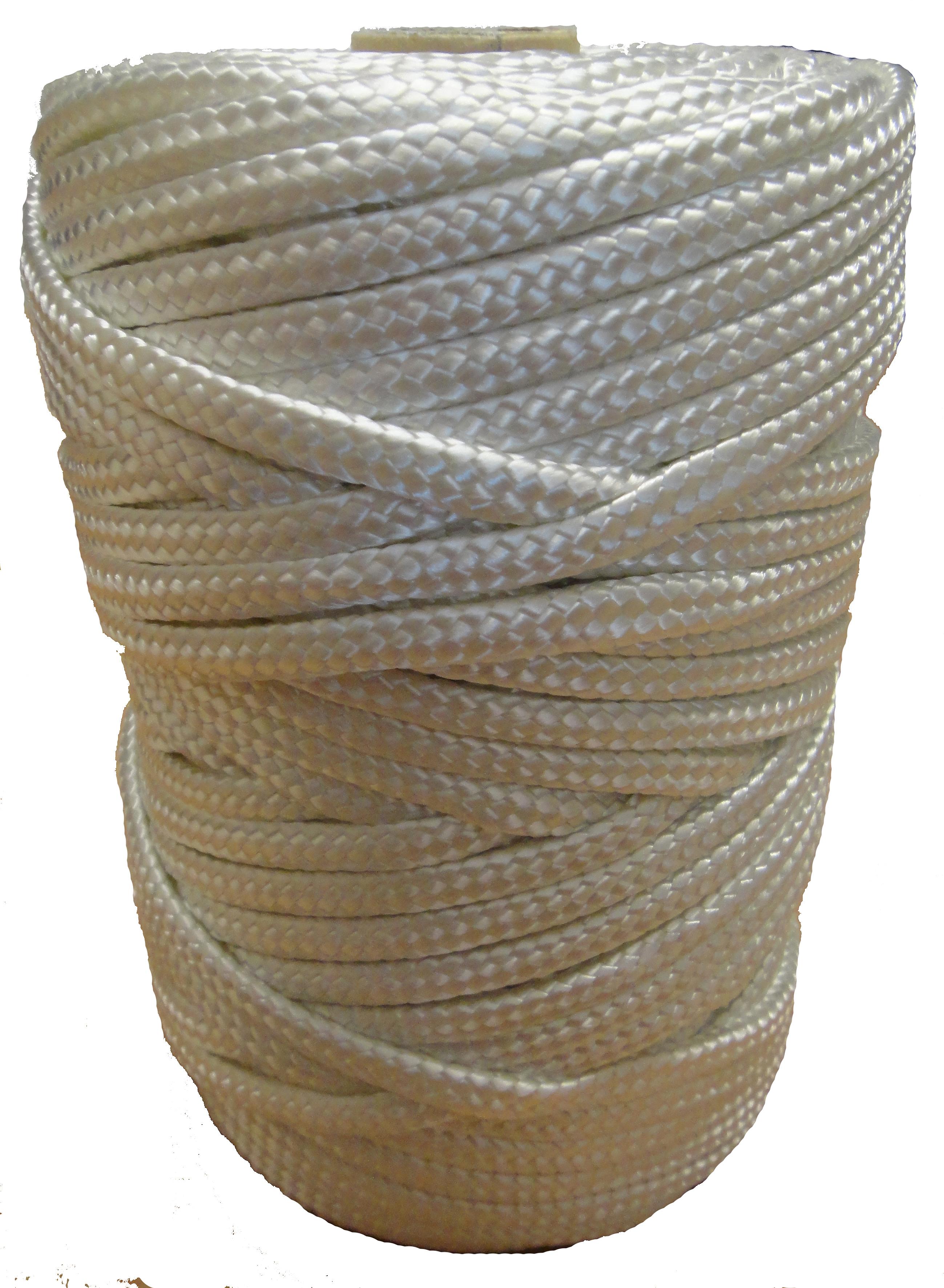 Timko Ltd 6mm White Braided Nylon Craft Cord X 70m