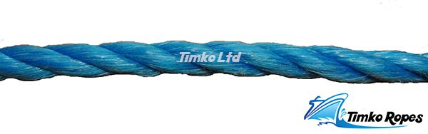 8mm Blue Polypropylene Rope Sold By The Metre