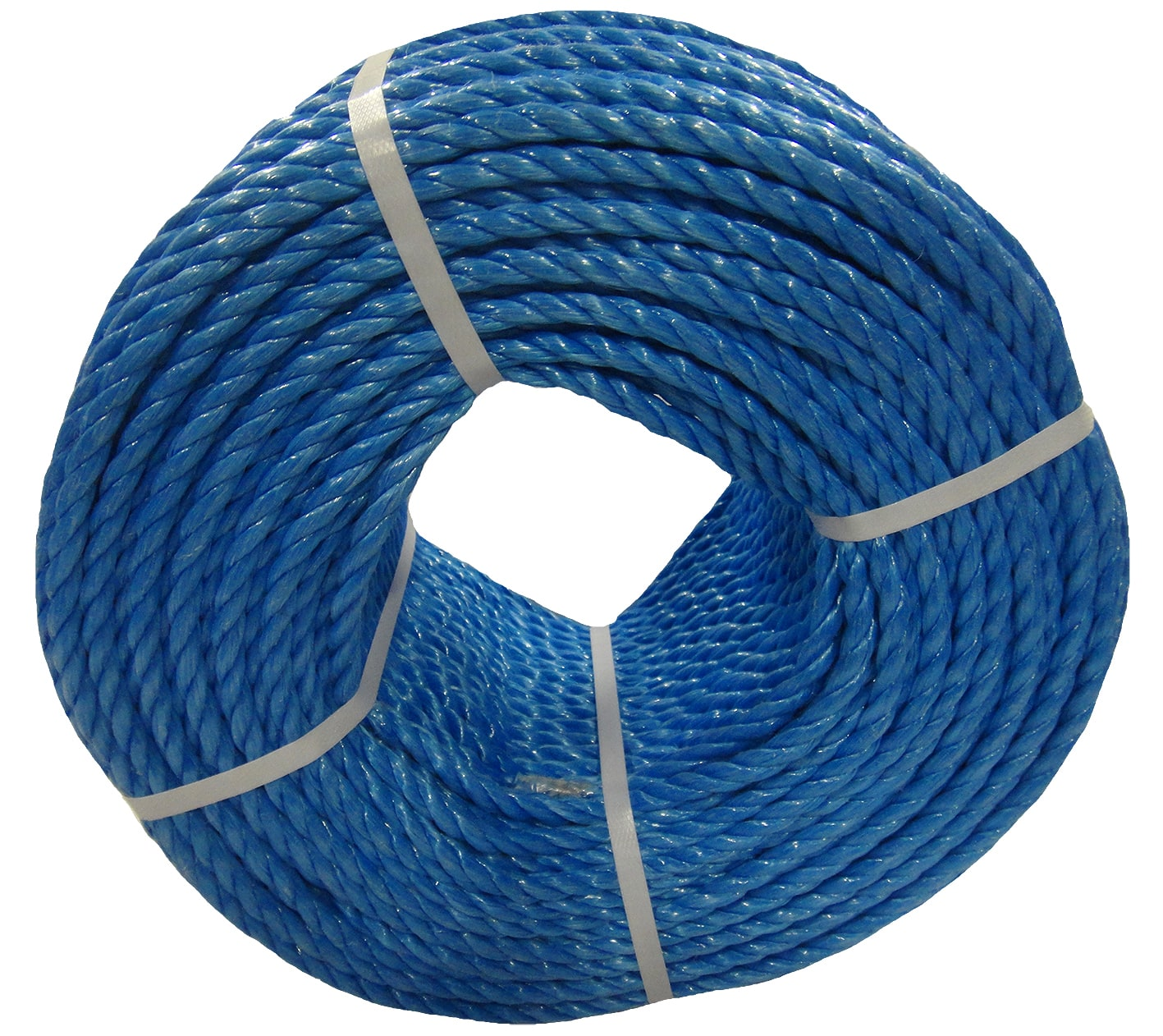 Polypropylene rope - 8mm Dia Blue x 100m Mini Coil