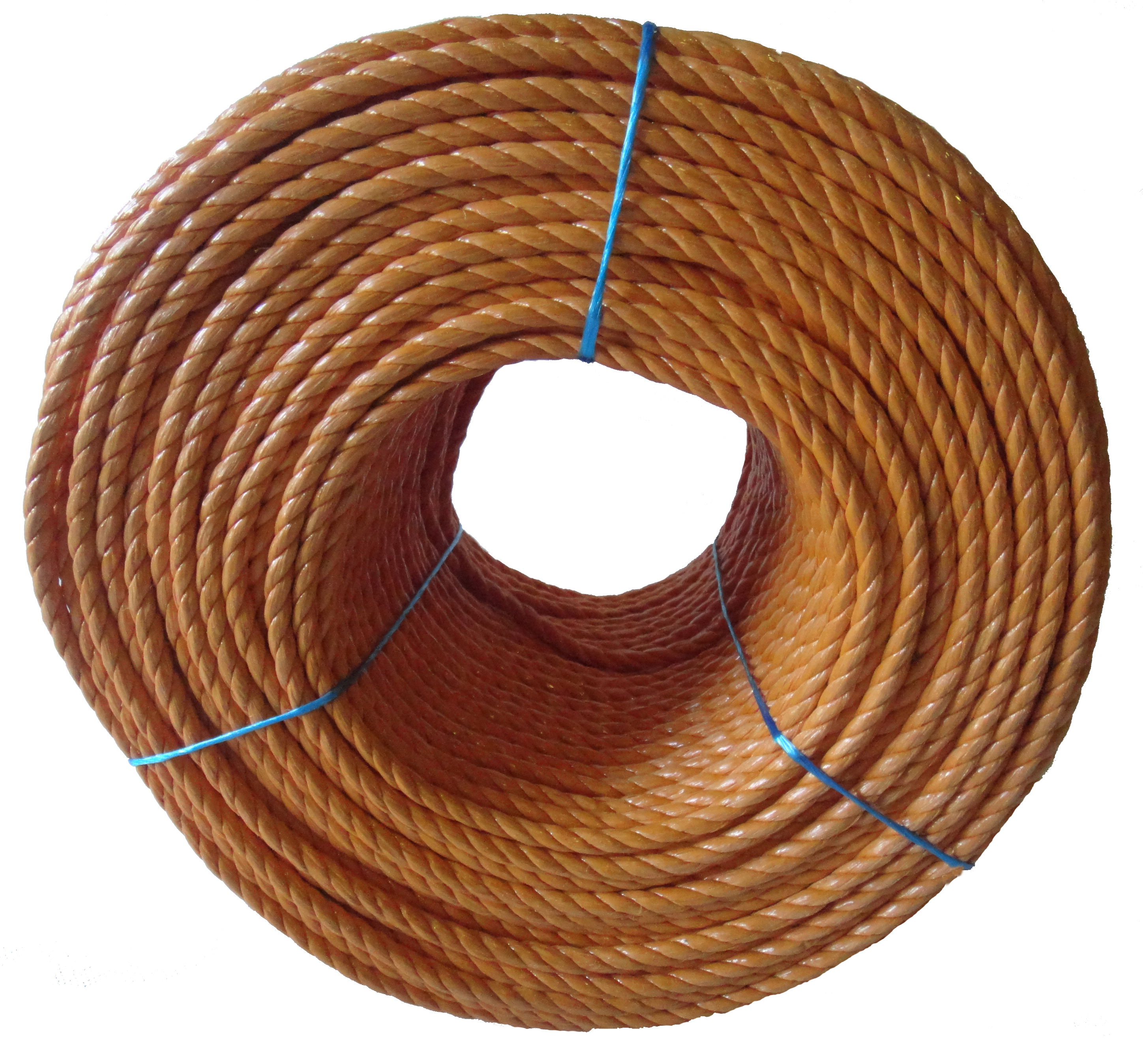Polypropylene rope - 8mm Dia Orange x 100m Mini Coil