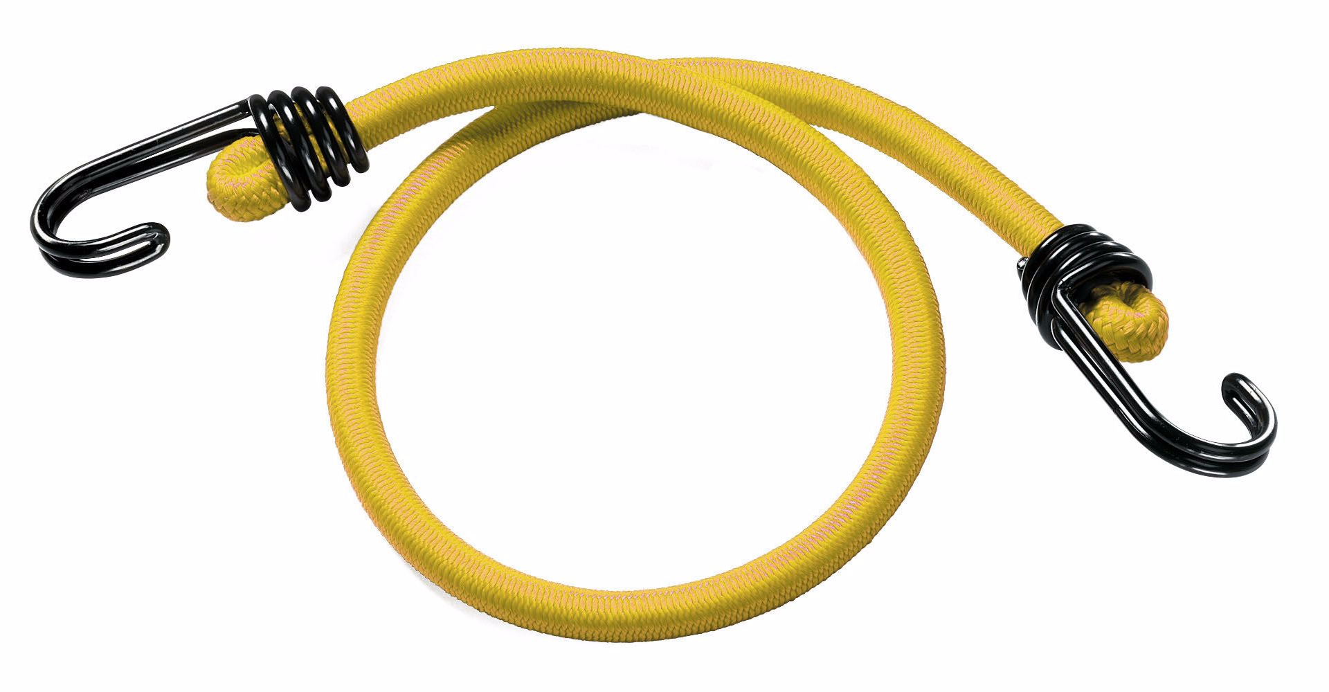Timko Ltd 8mm Yellow Bungee Cord Strap X 60cm With Reverse Hook Bungee Shock Cord Straps