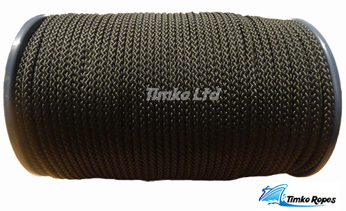 2mm Black Braided Polypropylene Cord x 200m
