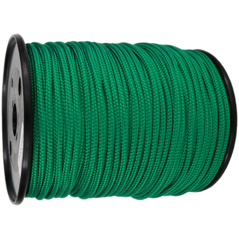 4mm Green Braided Polypropylene Rope x 200m