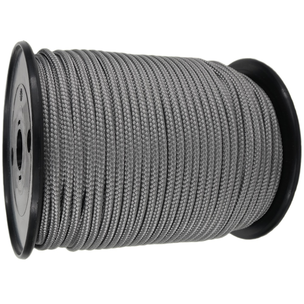 4mm Grey Braided Polypropylene Rope x 200m