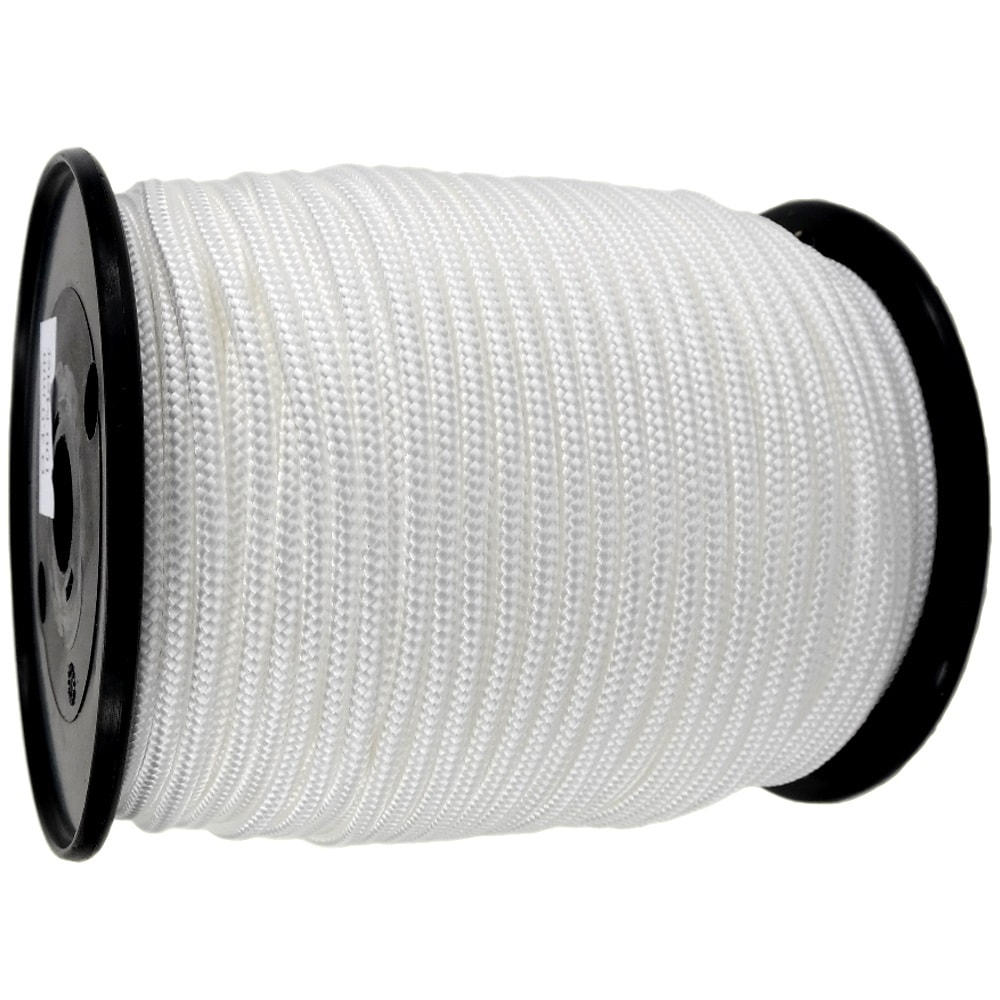 4mm White Braided Polypropylene Rope x 200m