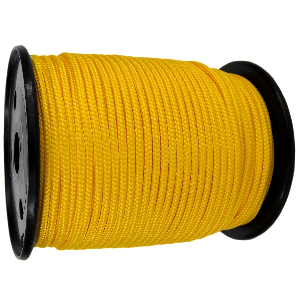 4mm Yellow Braided Polypropylene Rope x 200m