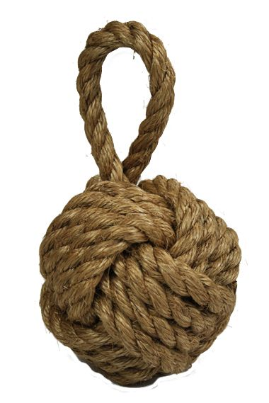Timko Ltd Manila Rope Knot Doorstop Weighted Manila