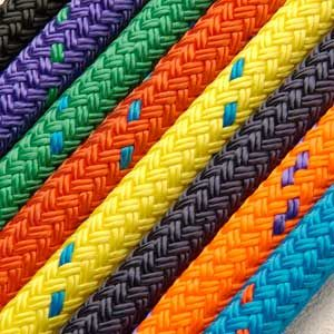 8mm Coloured Braid on Braid Polyester Rope - PER METRE