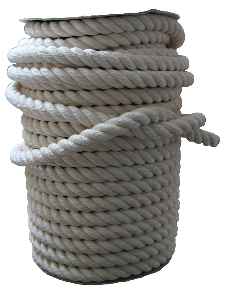 14mm Soft Natural White Cotton Rope x 220m