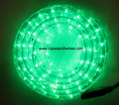 Green Led Rope Light 8m For In Outdoor Use Controller