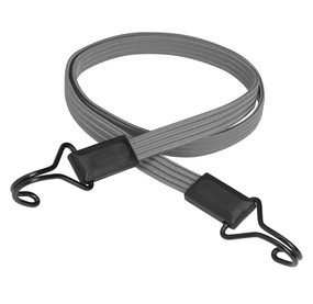 22mm Grey Flat Elastic Bungee Cord Straps x 100cm With Metal Hooks