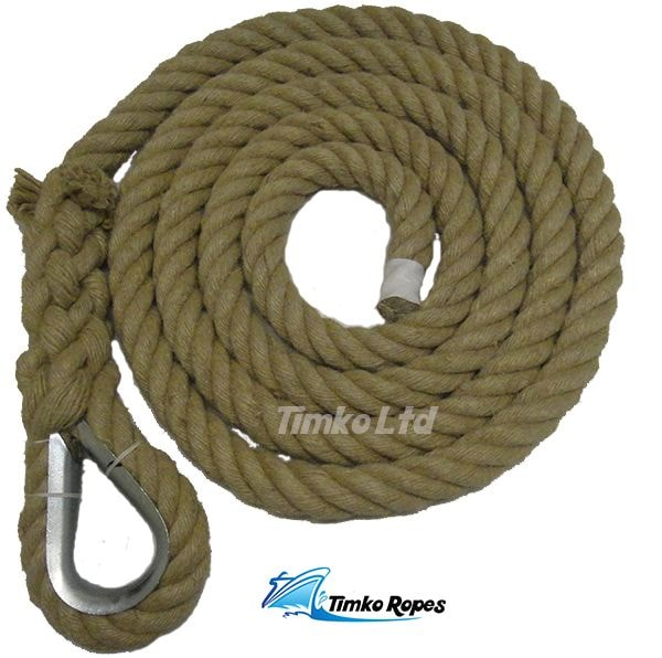 36mm Natural Hemp Gym Climbing Rope (Customise Upto 15m)