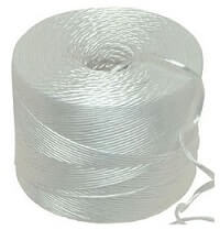 White Polypropylene twine string 1kg 1400m per kilo Ball - Length 1400m