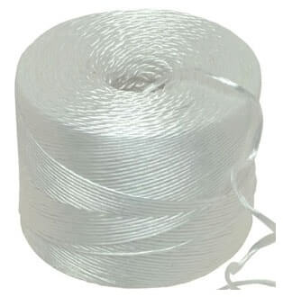 White Polypropylene twine string 4kg 700m per kilo Ball - Length 2800m