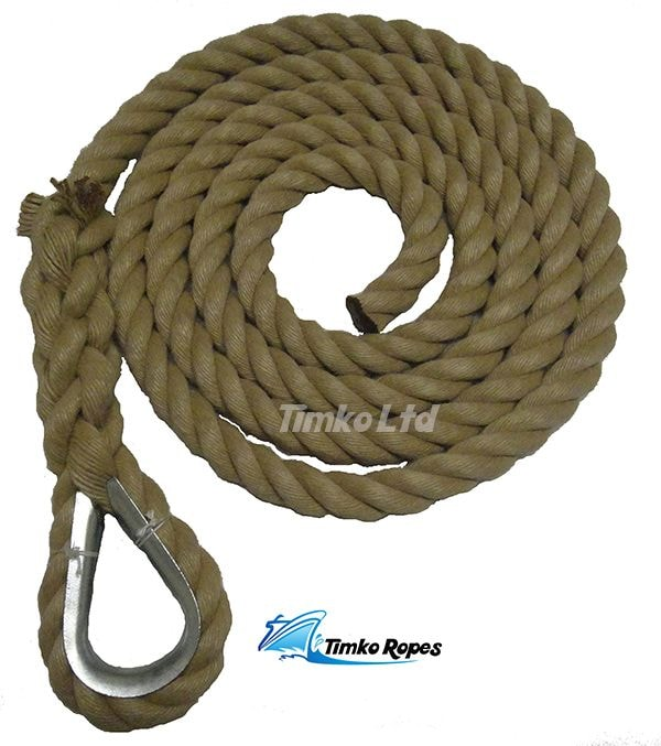32mm Polyhemp Gym Climbing Rope (Customise Upto 15m)