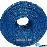 Polypropylene rope - 10mm Dia Blue x 220m Coil