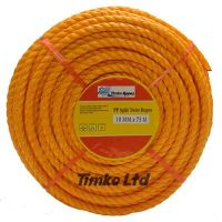 Polypropylene rope - 10mm Dia Orange x 20m Mini Coil