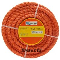 Polypropylene rope - 12mm Dia Red x 15m Mini Coil