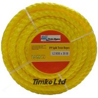 Polypropylene rope - 12mm Dia Yellow x 15m Mini Coil