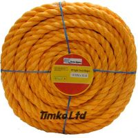 Polypropylene rope - 18mm Dia Orange x 50m Mini Coil