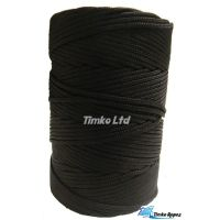 2mm Black Braided Nylon Cord x 280m