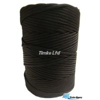 3mm Black Braided Coloured Nylon Cord x 180m
