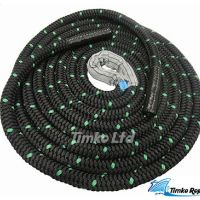 40mm Black Double Braided Polyester Battling Battle Rope