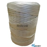 4mm White Braided Nylon Cords x 130m