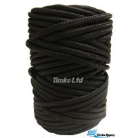6mm Black Braided Nylon Pull Cord x 90m