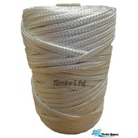 6mm White Braided Nylon Craft Cord x 90m