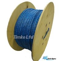 10mm Dia Blue Polypropylene Rope on Wooden Drum x 500m
