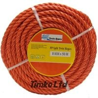 Polypropylene rope - 8mm Dia Red x 30m Mini Coil