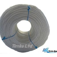 Polypropylene rope - 6mm Dia White x 220m Coil