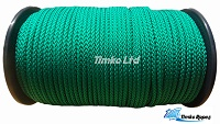2mm Green Braided Polypropylene Cord x 200m